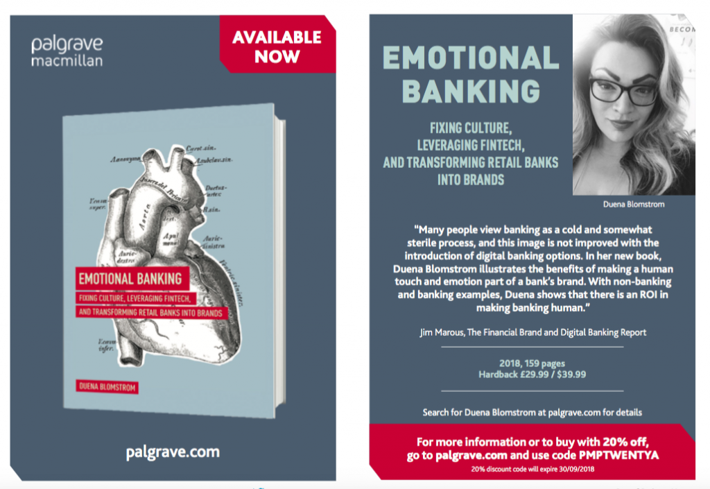 Cover of book Emotional Banking - Fixing Culture, Leveraging Fintech, and Transforming Retail Banks into Brands by Duena Blomstrom